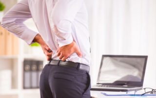 working from home with lower back pain